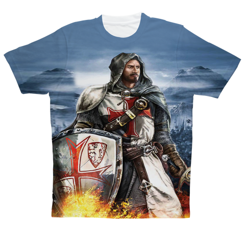 """Battle Knight"" Full Print T-Shirt"