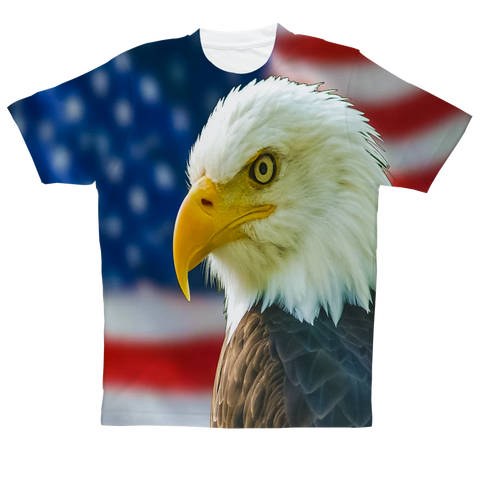 """America Eagle Patriot"" Full Print T-Shirt"