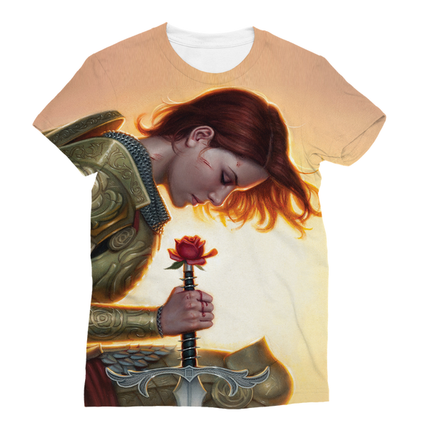 """Woman Templar"" Full Print T-Shirt"