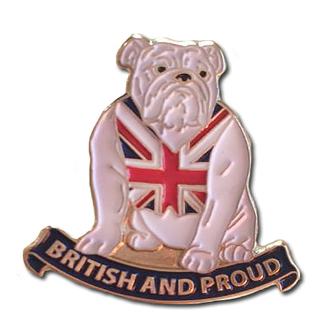 British & Proud Bulldog Lapel Badge