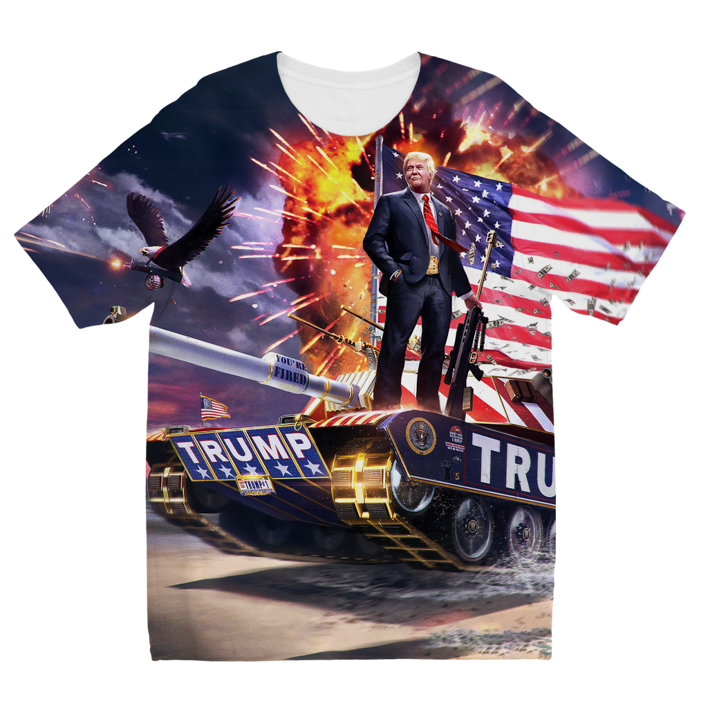"""Trump's Tank Kids"" Full Print T-Shirt"
