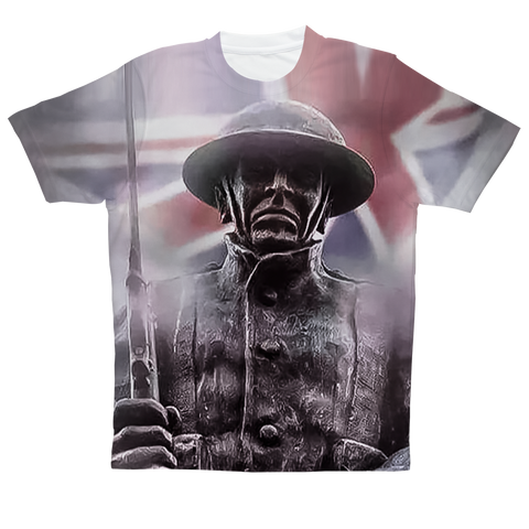 """British Veteran"" Full Print T-Shirt"