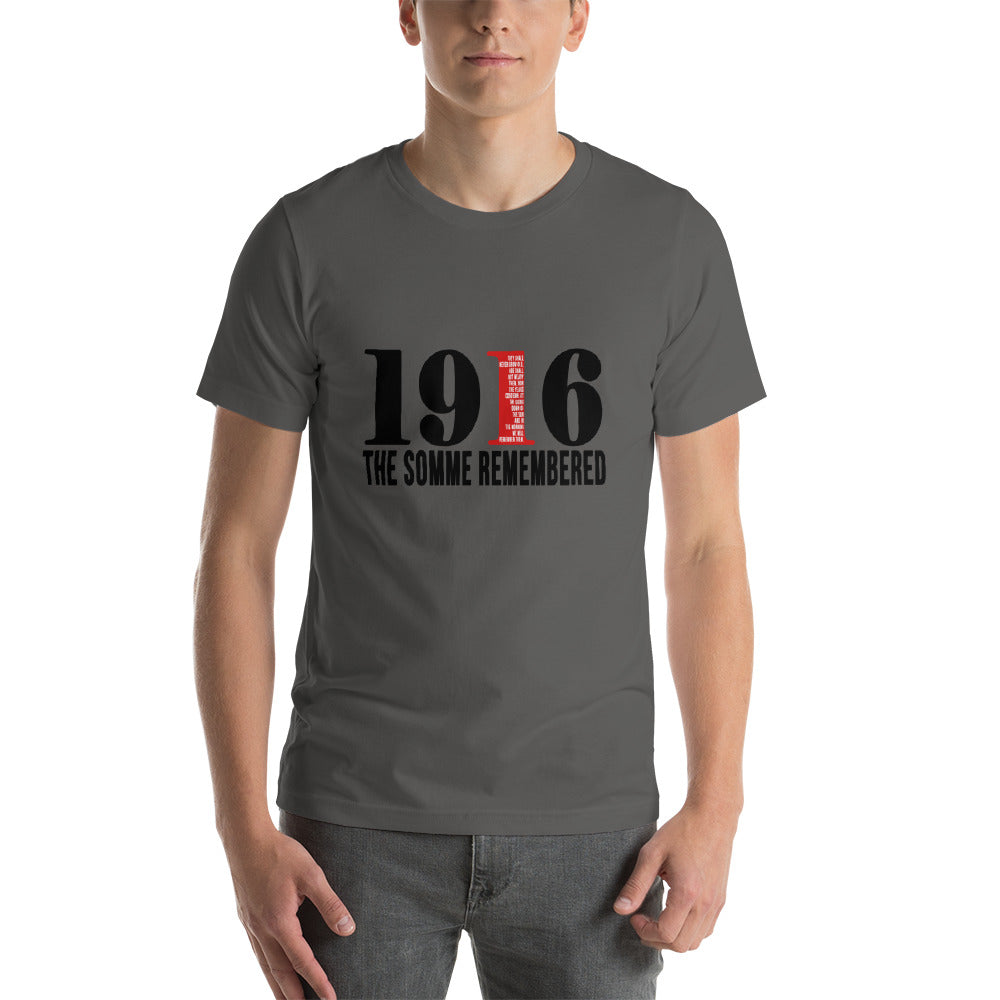 1916 The Somme Remembered Short-Sleeve T-Shirt