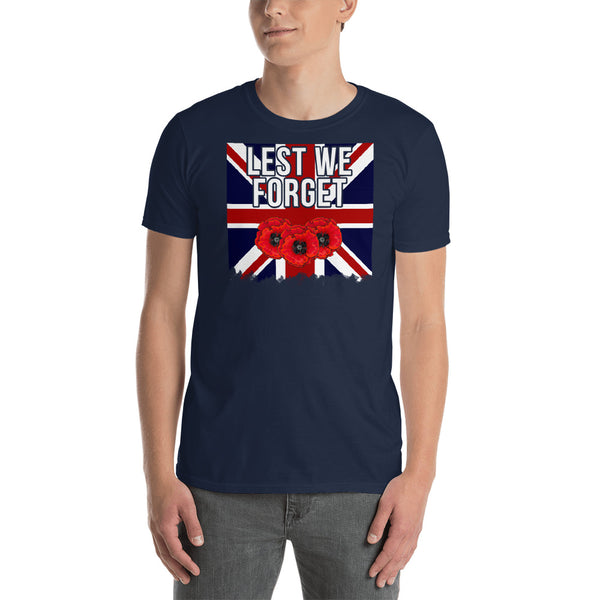 """Lest We Forget Union Flag"" T-Shirt"