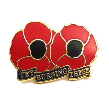 """Try Burning These"" Lapel Badge"