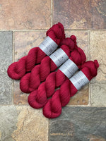 Red Velvet - Hand dyed merino/nylon sock/fingering