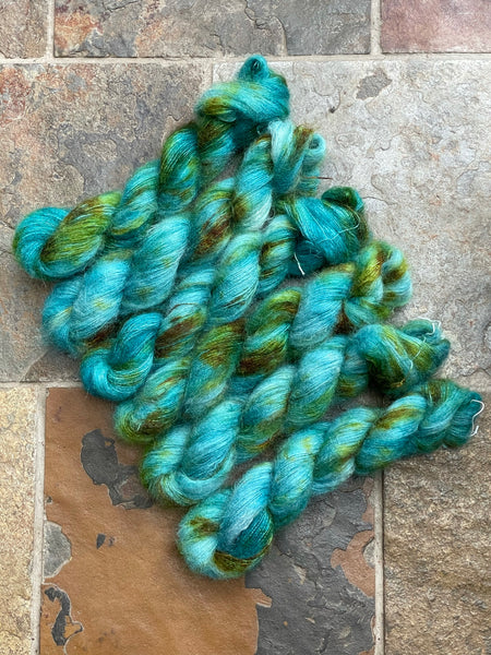 Odyssey -  Hand dyed Mohair/Silk Lace