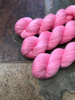 Flamingo - Hand dyed merino/nylon sock/fingering weight