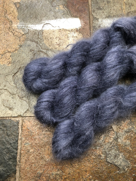 Inkwell - Hand dyed Mohair/Silk Lace