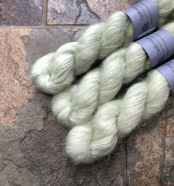 Pistachio - Hand dyed Mohair/Silk Lace