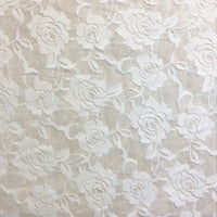 White Rose Stretch Lace