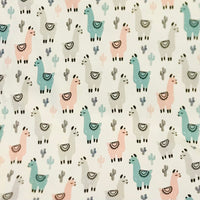 Llama Brushed Poly Spandex - Fun Prints
