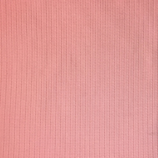 Solid Rayon Rib Jersey  ~ Rose