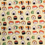 Sushi Brushed Poly Spandex - Fun Prints