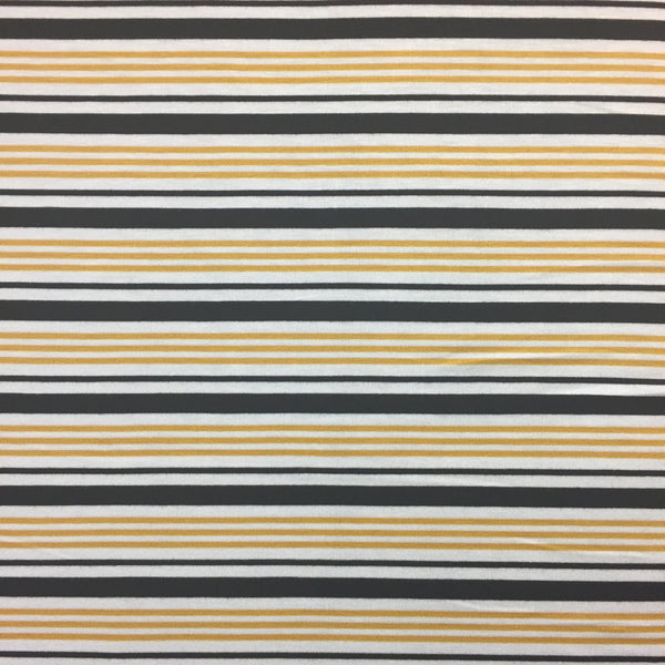 Striped Rayon Jersey  ~ Mustard/Black/White