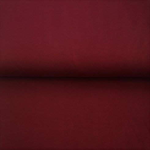 Solid Burgundy Cotton Lycra Jersey ~ Stenzo