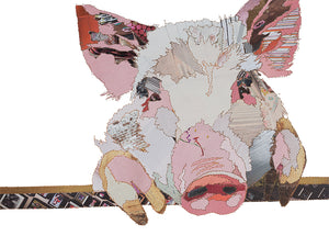 'Pink Pig' - Greetings Card - CK0124