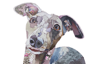 'Whippet' - Greetings Card