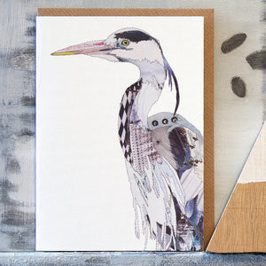 CK0160 - 'Heron' - Greetings Card