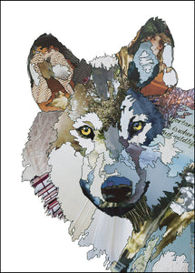 'Wolf' - Greetings Card - CK0166