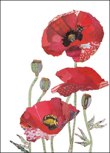 'Poppies' - Greetings Card - CKHF03B
