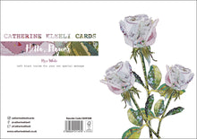 'Rose White' - Greetings Card / Print - CKHF09B