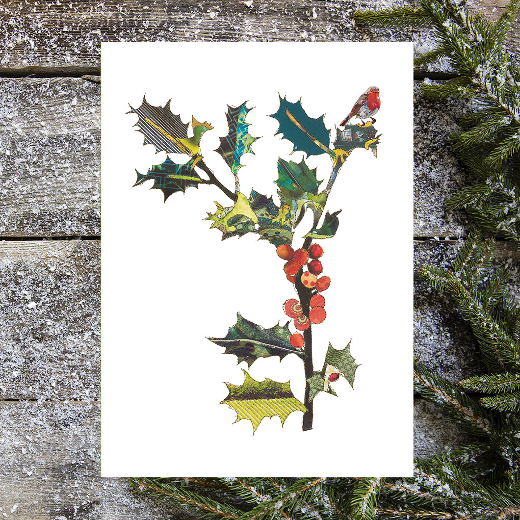'Holly' - Greetings Card - CKHFX20