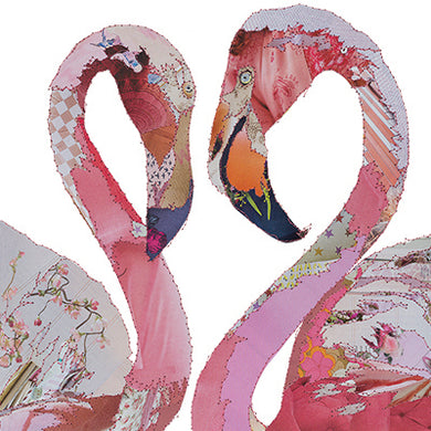 'Love Birds Flamingos' - Greetings Card