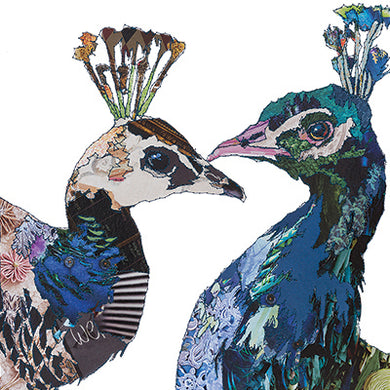 'Love Birds Peacocks' - Greetings Card