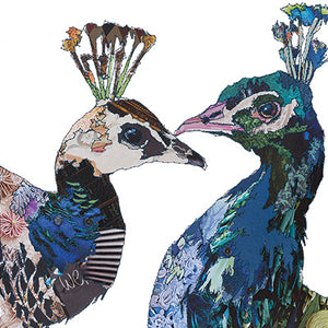 'Love Birds Peacocks' - Greetings Card - CKLB03