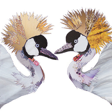 'Love Birds Cranes' - Greetings Card