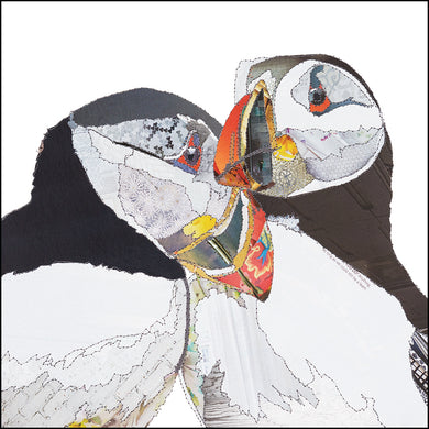 'Love Birds Puffins' - Greetings Card