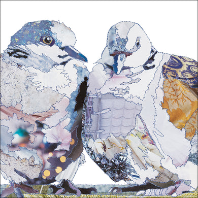 'Love Birds Turtle Doves' - Greetings Card - CKLB8