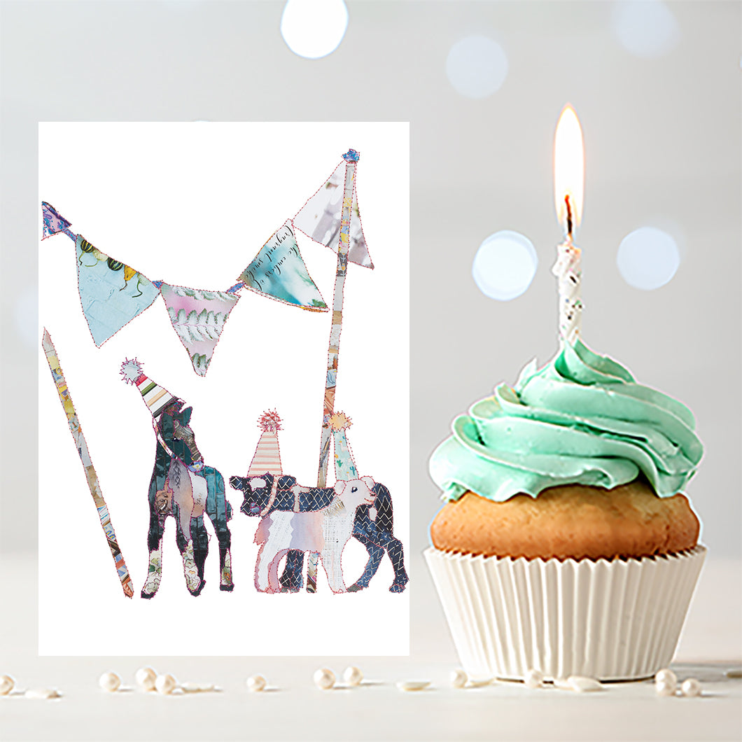 'Party Gang' - Greetings Card / Print - CKZ005