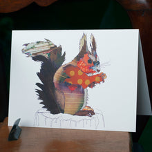 'Red Squirrel' - Greetings Card