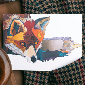 'Fox' - Greetings Card