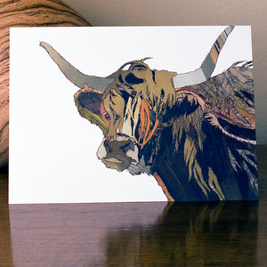 'Angus' - Greetings Card / Print - CK0112