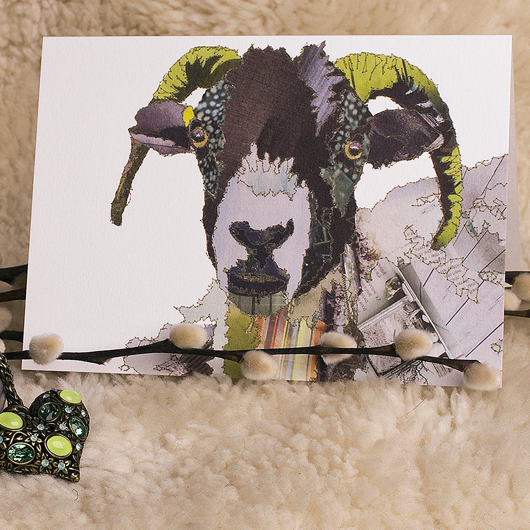 'Swaledale Sheep' - Greetings Card / Print - CK0114