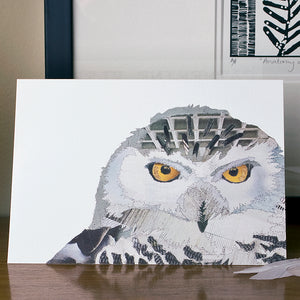'Snowy Owl' - Greetings Card