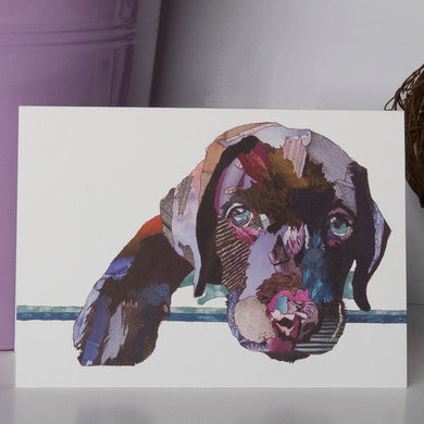 CK0144 - 'Chocolate Puppy' - Greetings Card
