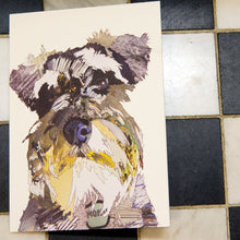 'Monty the Schnauzer' - Greetings Card