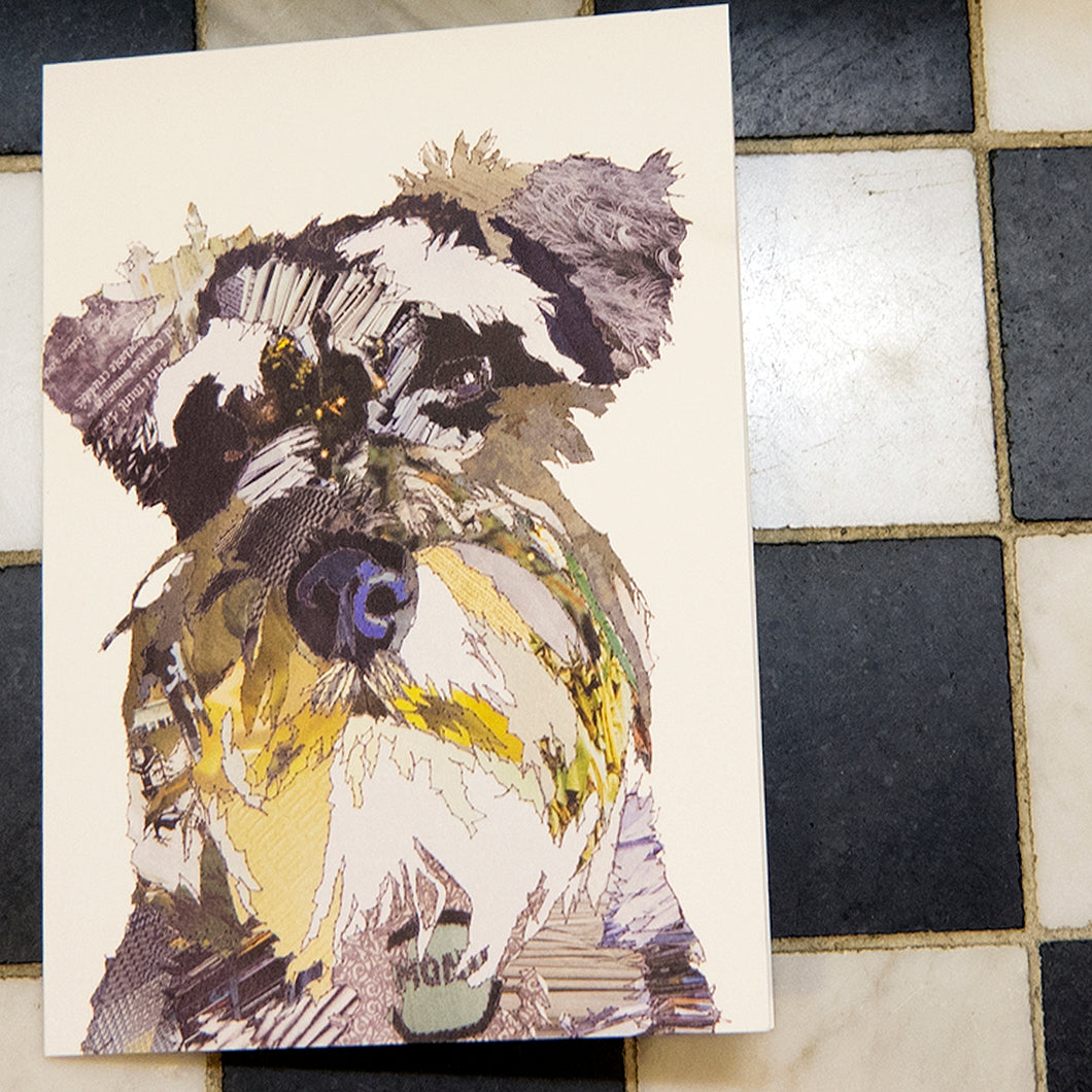 'Monty the Schnauzer' - Greetings Card / Print - CK0149