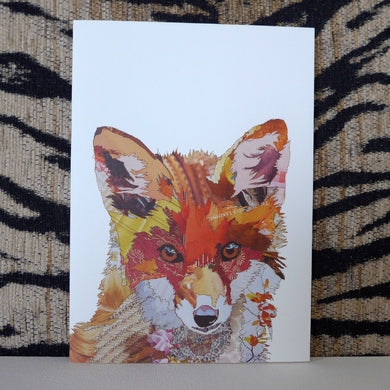 'Fox Cub' - Greetings Card