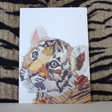 'Tiger Cub' - Greetings Card