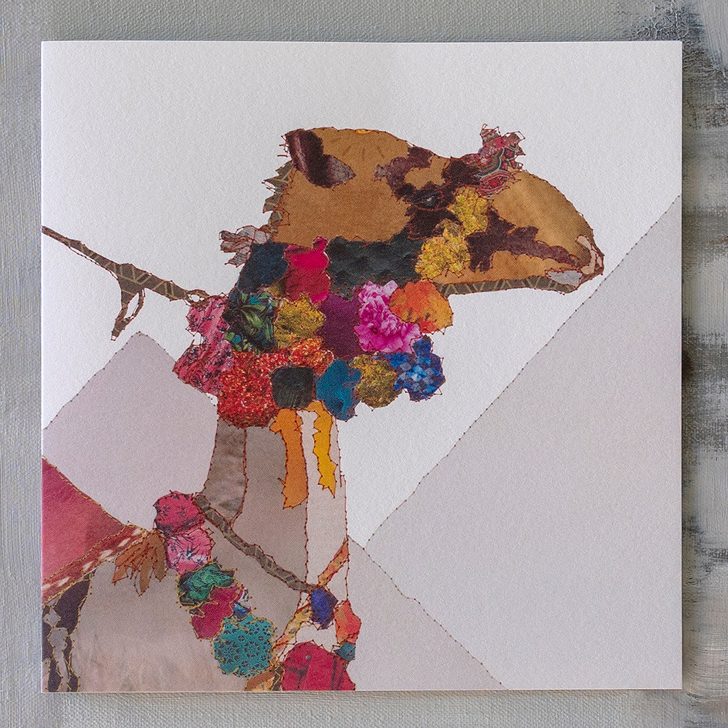 'Heading East - Camel' - Christmas Card - CKX07