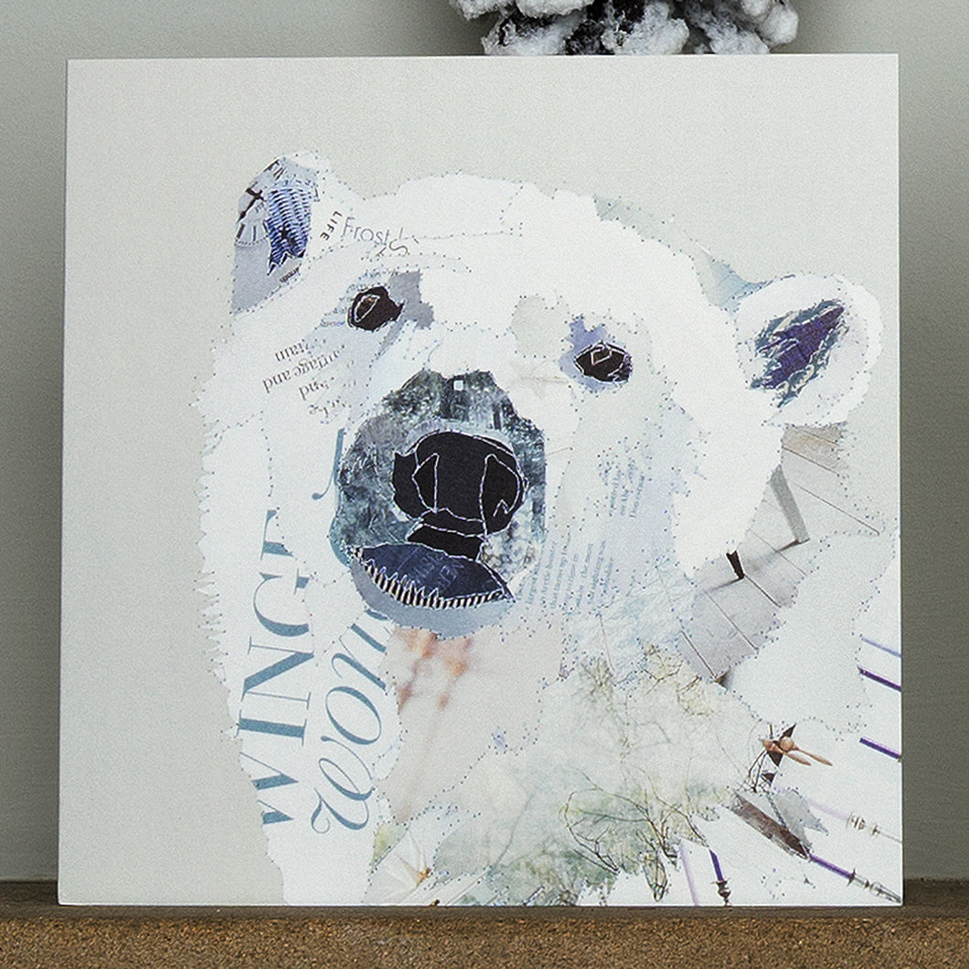 'White Polar Bear' - Christmas Card