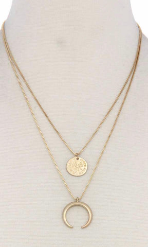 Cresent Moon Layered Necklace
