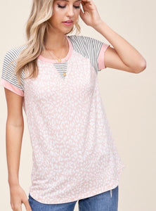 Pretty in Pink Leopard top.