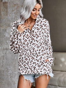 Sherpa Leopard Pullover.