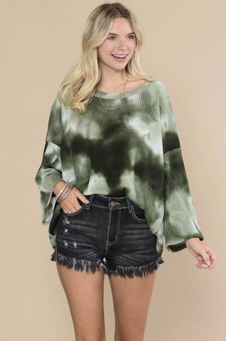 Green Envy Tie Dye top